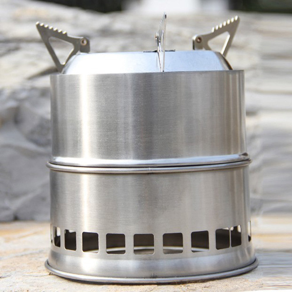 Outdoor Wood Stove Portable Stainless Steel