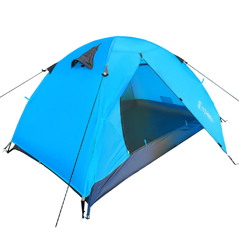Ultra-light 1.8KG Double Layer Canvas Camping Tent 2 People Hiking Trekking Backpacking Fishing Tourist Barraca Carpas Tente