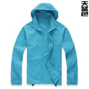 2016 Lovers Skin Sunscreen Clothing Men Women Quick Fast Dry Hiking Jackets Windproof Sun UV Protection Outdoor Sport Rain Coats