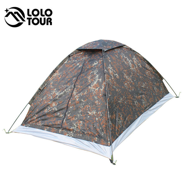 2 People Camouflage Camping Tent Outdoor Carpas Waterproof Beach Hunting Military Army Barraca Roof Tenta 200*140*110cm ED12