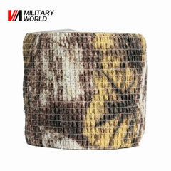 Military Airsoft Tactical 1 Roll Camo Stretch Tape Bandage Camping Hunting Camouflage Tape (4.5M) Shooting Gun Accessory