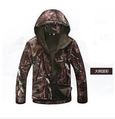 Shark Skin Softshell Jacket Outdoor camping hiking Hunting Military Men Army Camouflage Hoody Jacket Waterproof Clothing Coat