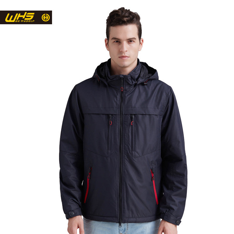 WHS 2016 Autumn Men sport cotton Jacket outdoor camping coat Male fall hiking windproof Clothes