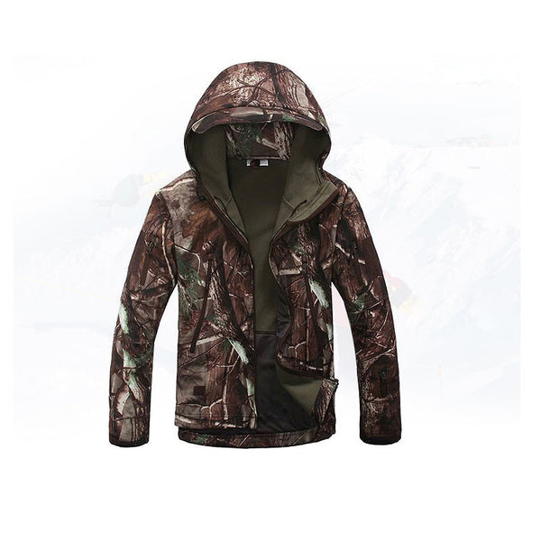 Outdoor Military Tactical Jacket Men Shark Skin Softshell Jacket Waterproof Windproof Hiking Jacket Camouflage Clothing K0030