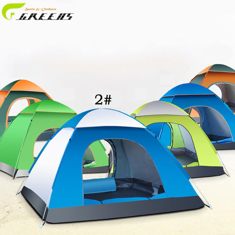 High Quality Double Layer 3 4 Person Rainproof Ourdoor Camping Tent for Hiking Fishing Hunting Adventure Picnic Party/wigwam