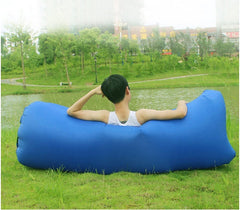 double pocket fast inflatable sofa ultralight camping equipment hiking camping beach air lounge Inflatable bed outdoor tools