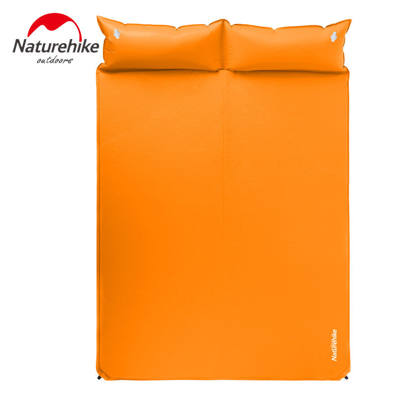 NatureHike Camping Mattress Two Seat Self-Inflating Mat Pad Portable Bed with Pillow Camping Equipment