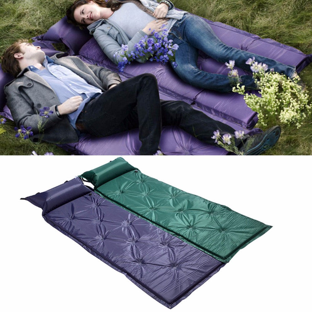 2016 New Outdoor Self-Inflatable 183*57*2.5cm Picnic Pad/Camping Mat Bed W/Pillows Anti-Wet Matress Equipment