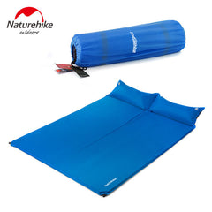 OA NatureHike Portable Bed with Pillow Camping Equipment Camping Mattress Two Seat Self-Inflating Mat Pad
