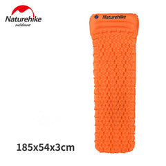 Naturehike Outdoor Camping Mat Tent Bed TPU Inflatable Air Mattress 1 Person Sleeping Pad Airbed with Pillow Camping equipment