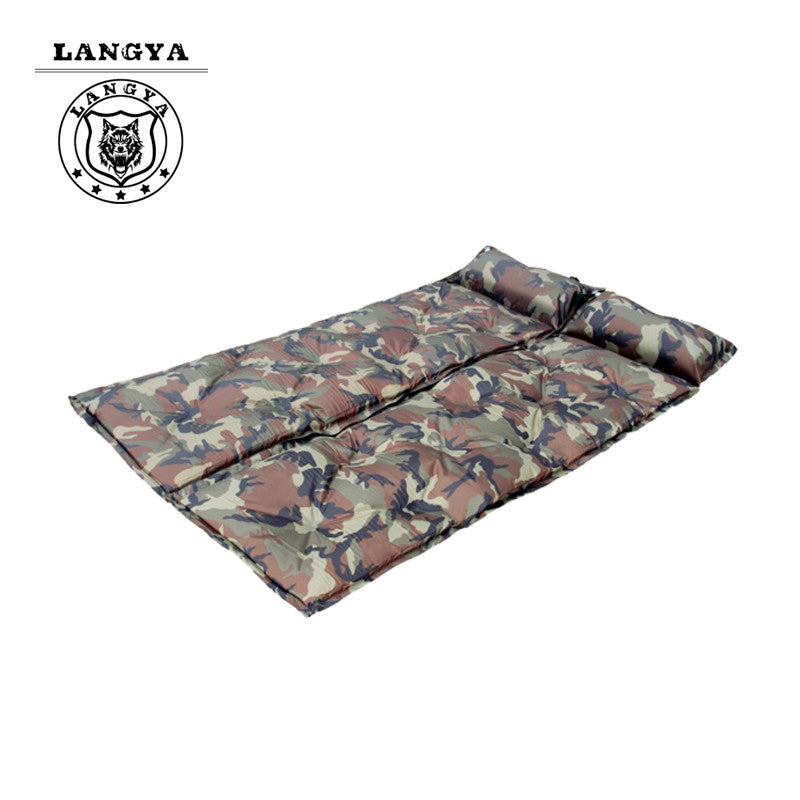 Outdoor Camouflage Automatic Inflatable Bed Mattress Camping Equipment Fishing Beach Mat Sleeping Pad Can Be Spliced