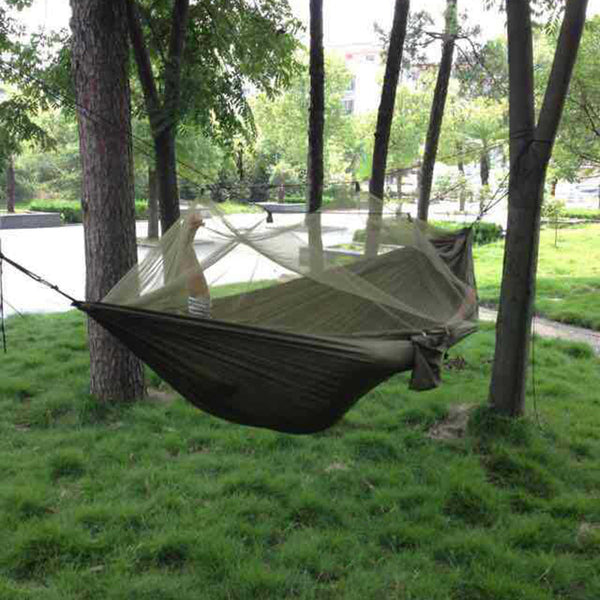 Outdoor Jungle Camping Mosquito Net Hammock Hanging Swing Bed Nylon Sleeping Bed Hammock Camping Picnic Equipment