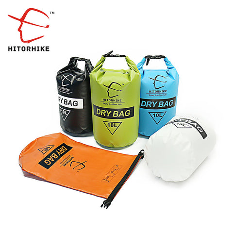 HITORHIKE10L Muitifunctional Durable Ultralight Outdoor Travel Kit Rafting Camping Hiking Swimming Waterproof Bag Dry Bag