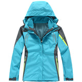 2016 Women hiking Clothing Outdoor Sport Windbreaker Skate Rain Coat Winter Ski Tech Fleece Softshell Wateroproof Jacket 3in1