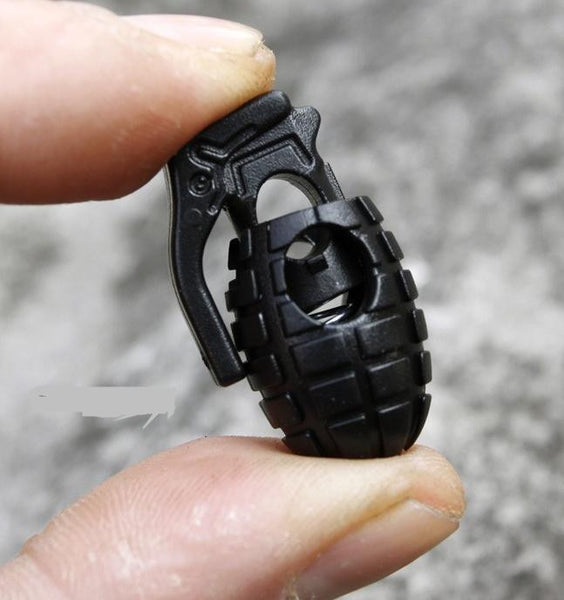 Camping EDC Gear 10 Pcs/lot Tactical Outdoo Hiking Boots Shoes Grenade Shoelace Tightening Non-slip Buckle Shoelace Buckle Clip