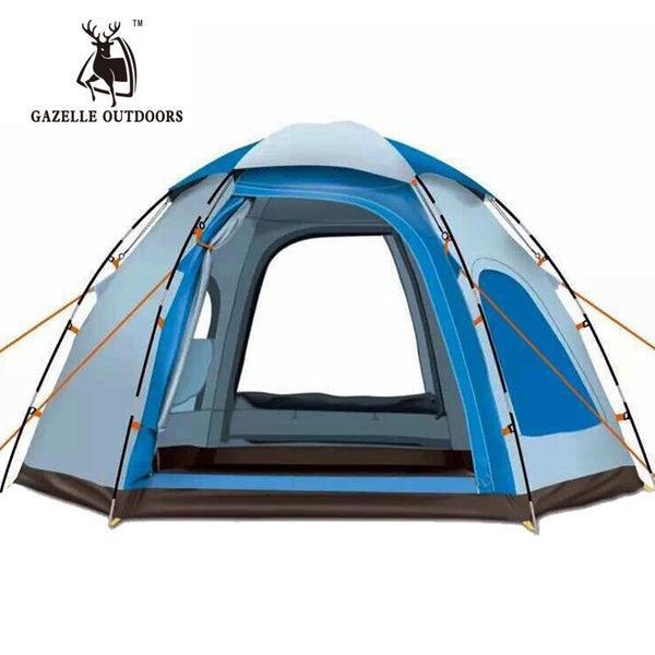 Winter Automatic Outdoor 5-6 Persons Large Camping Tent Waterproof Family Fishing Tente De Uv Pop Up Awning Bivvy Tarp Shelter
