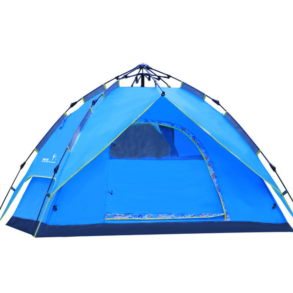 Hiking Camping Tent Picnic large luxury camping tents family tents Hydraulic automatic Waterproof Double Layer Rainproof Tent