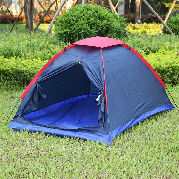 Hot Sale! Two Person Outdoor Camping Tent Kit Fiberglass Pole Water Resistance with Carry Bag for Hiking Traveling