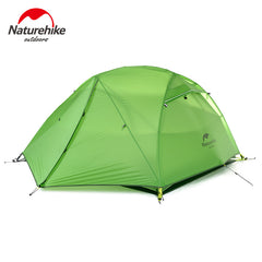 Naturehike with Footprint 2 Person Camping Tent Waterproof  20D Silicone Fabric Double-layer Tent 4 seasons Tent NH15T012-T