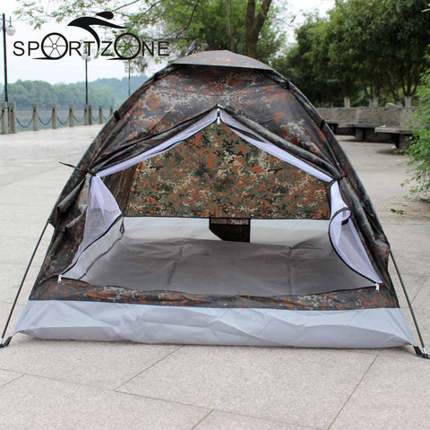 Portable Camping Tent for 2 Person Single Layer Outdoor Tents Camouflage for Camping Hiking