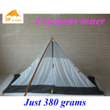 Just 380 grams 3F ul Gear 4 seasons outdoor summer camping tent