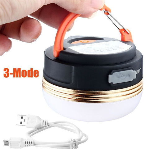 3-mode 300LM LED Outdoor Indoor Camping Light Remote Portable Lampshade Circle Tent Lantern White Light Campsite Hanging Lamp