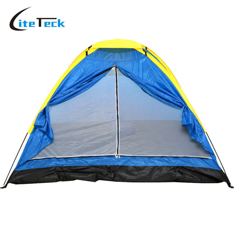 Hot Sale 200 * 200 * 130cm 2-3 Peolpe Durable Rainproof Hiking Fishing Picnic Beach Tent Foldable Travel Camping Tent with Bag
