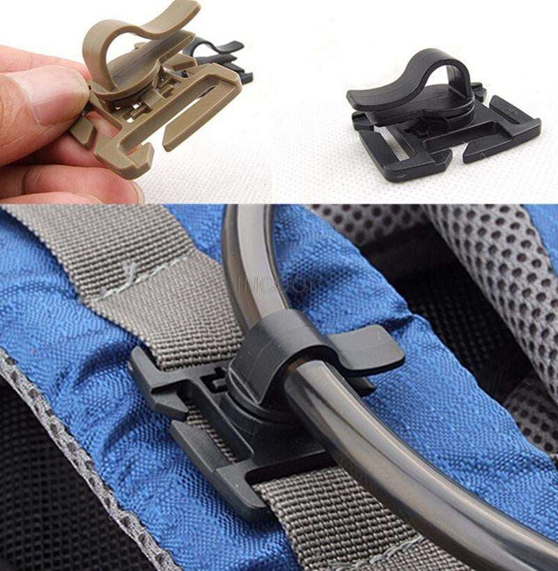 Drink Tube Clip Gear Water Pipe Hose Clamp Backpack molle webbing tactical buckle outdoor camp hike Hydration Hydrolink Bladder