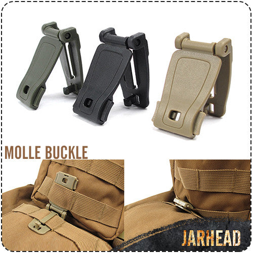 Outdoor Backpack Molle D Buckle Camping Accessories Backpack Clip Buckle Tactical Bag Fixing Buckle Hanging Buckle,10pcs/Lot