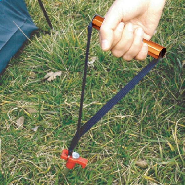 Outdoor Camping Tent Peg Remover Strap Tent Accessories Deep Blue with Orange (25cm) Free Shipping