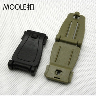 Camping EDC Gear 5 Pcs/lot Outdoors Factory Direct Connection Molle Webbing Buckle Clip Military Fans Backpack Accessories