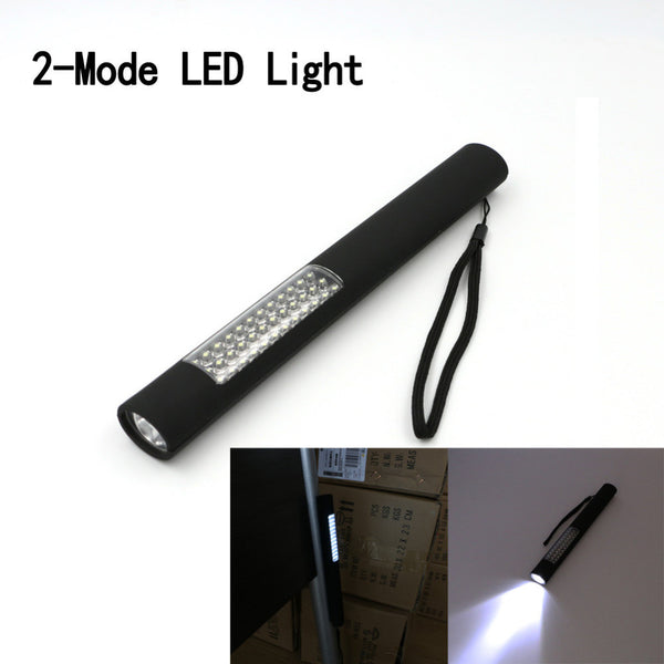 2016 New black 2 modes magnet design 37 mini LED lamp beads light for camping home maintenance Use 4*AAA batteries