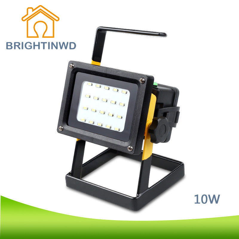BRIGHTINWD 10W LED Rechargeable Lantern Outdoor Portable Camping LED Light LED Spot Light IP65 Floodlight Spotlight
