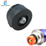 Aluminum Stove Adaptor Outdoor Camping Hiking Stove Conversion Split Type Gas Furnace Connector Cartridge Auto-off Tank Adapter