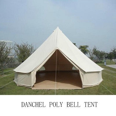 DANCHEL 4M Durable Bell Tent 900D Oxford Fabric Waterproof Tipi Teepee Camping Tent 4 m Dia Luxury Tent Tent for Garden Outdoor