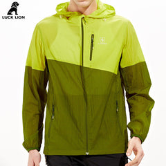 Luck lion men camping hiking softshell Jackets length sleeve waterpoor windproof breathable UV man skin clothing spring