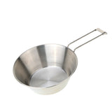 Stainless Steel Bowl with Foldable Handle