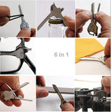 6 in 1 Multifunctional Mini Folding Key Knife