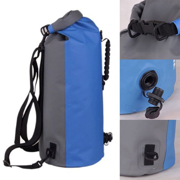 60L Portable Large Capacity Waterproof Floating Dry Bag Backpack Drift Canoeing Camping Swimming Diving Accessories