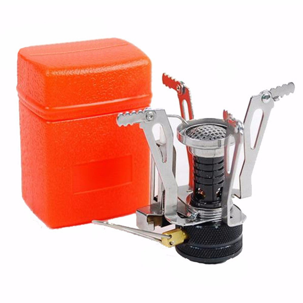 E-gear Portable Outdoor Picnic Foldable Gas Burner Camping Mini Ultralight Steel Stoves Burners Outdoor Equipments EDC Tools