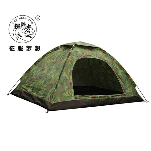 Outdoor Portable Single Layer Camping Tent Camouflage 3-4 Person
