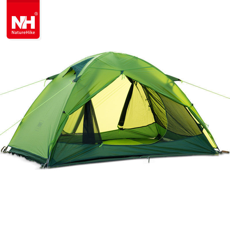 Naturehike Windproof Waterproof Anti UV Double Layer Tent 20D Silicone Ultralight Outdoor Hiking Camping Tent for two person
