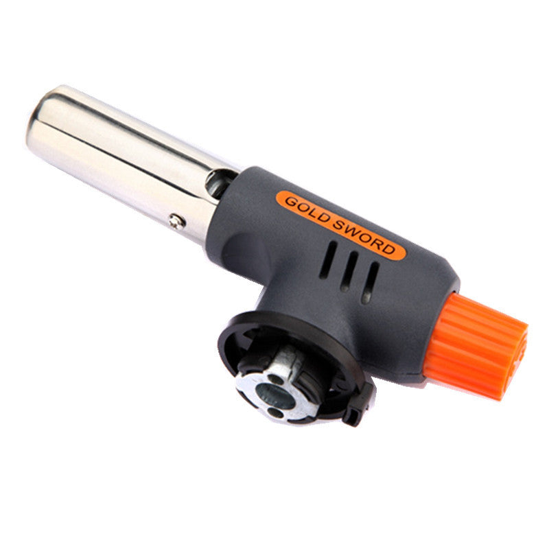 Excellent quality Gas Torch Flamethrower Butane Burner Auto Ignition Camping Welding BBQ Outdoor Travel H1E1