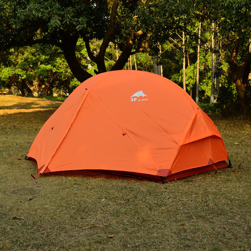 3F UL GEAR Outdoor Ultralight Camping Tent 210T  PU Coating 3000mm Waterproof  Tents 3 Season 2 Person Summer Tent For MSR Hubba