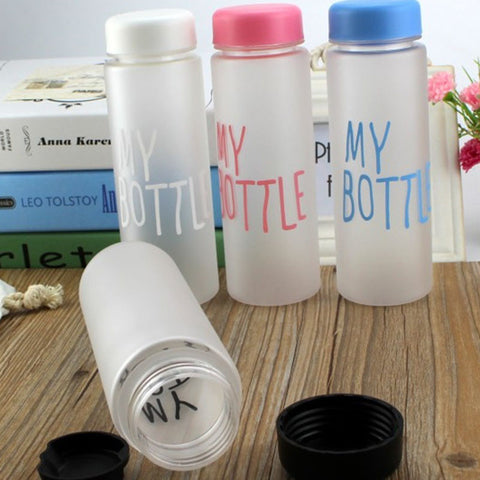 Frosted Leak-proof Cup Portable Water Bottle