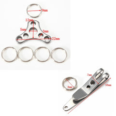 Stainless Steel Suspension Clip+Hat buckle Set