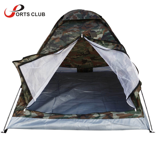 2 Person Single Layer Camping Tents Outdoor Camping Hiking Portable Durable Spring Summer Autumn Camouflage Tents