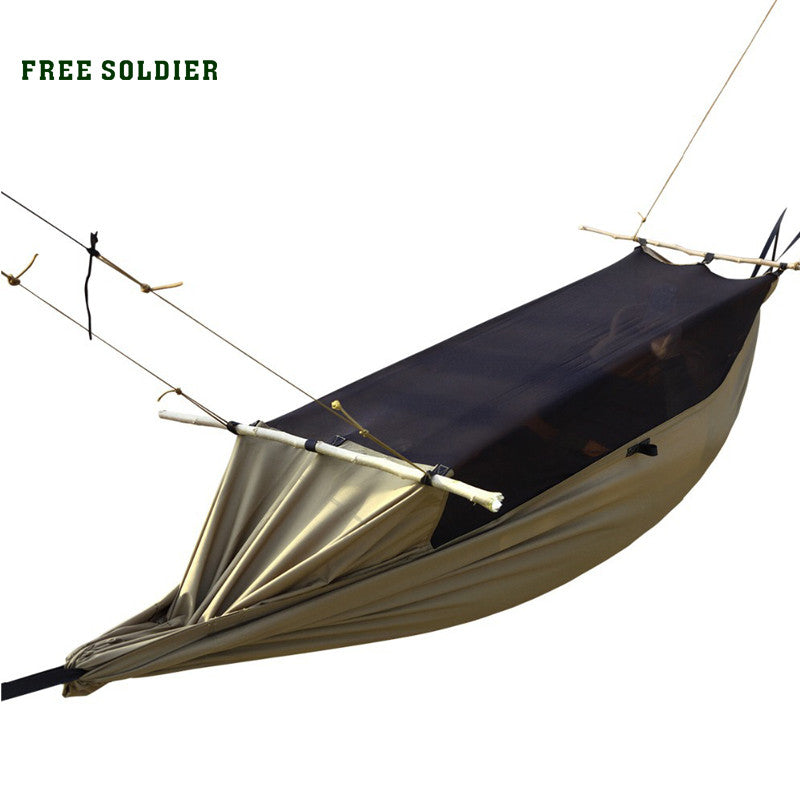 FREE SOLDIER camping outdoor survivor portable mosquitoe hammock wear-resisting large tent for person 180-195cm height hammock