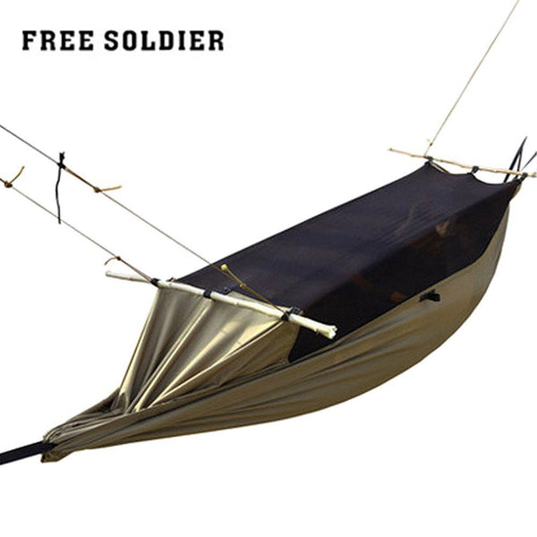 FREE SOLDIER camping hiking outdoor survivor portable mosquitoe hammock wear-resisting large tent for person 180-195cm height