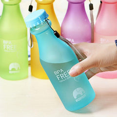Plastic Frosted Leak-proof Cup Portable Water Bottle